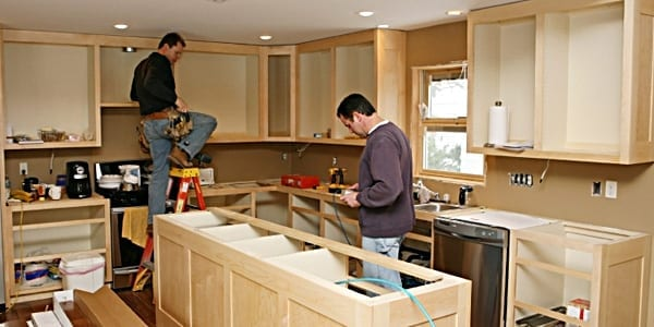 Installing kitchen cabinets for Cabinet installation