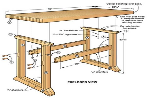 diy workbench dimensions ~ Woodworking Plans Product Info