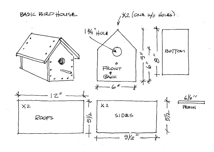 plans for birdhouse