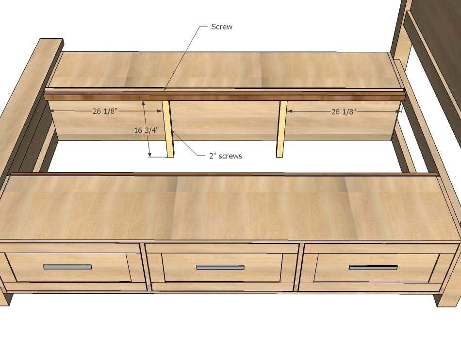Platform Bed With Drawers Plans building a king size bed with storage